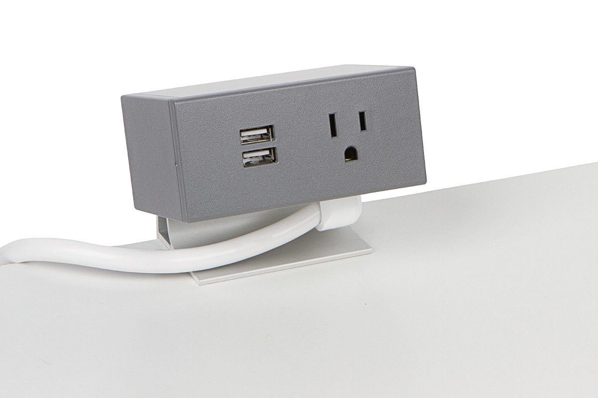 Clamp Mount Power Grommet - 1 Power/Dual USB | Clamp and Outlets