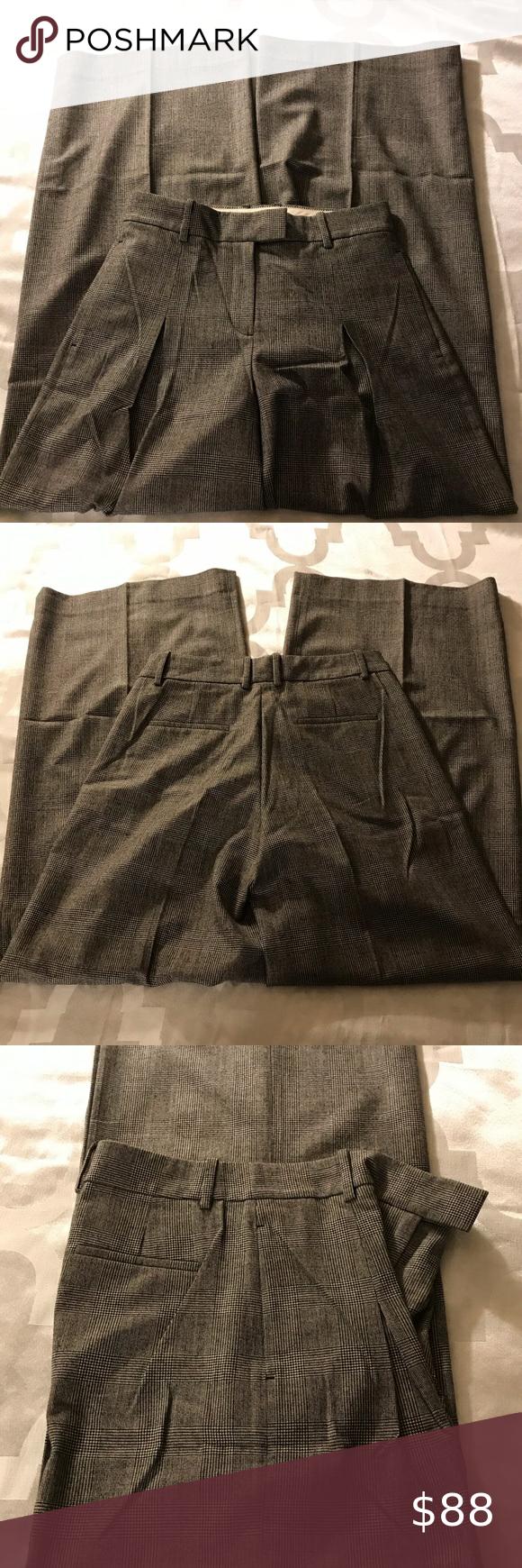 J Crew High Waist Wide Leg Plaid Trousers Printed Wide Leg Pants Wide Leg Linen Pants Cropped Linen Pants