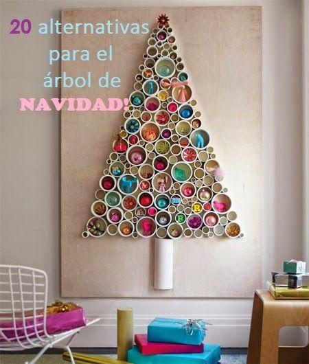 20 alternativas para el rbol de navidad navidad xmas for Ideas originales para decorar en navidad