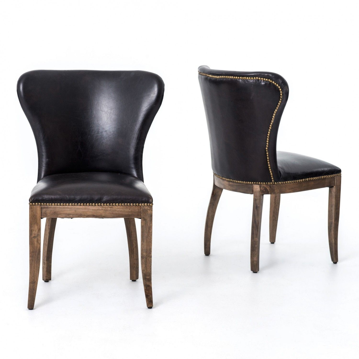 leather dining chairs modern. RICHMOND DINING CHAIR - MORE OPTIONS AVAILABLE | Industrial Home. Black Leather Dining ChairsModern Chairs Modern