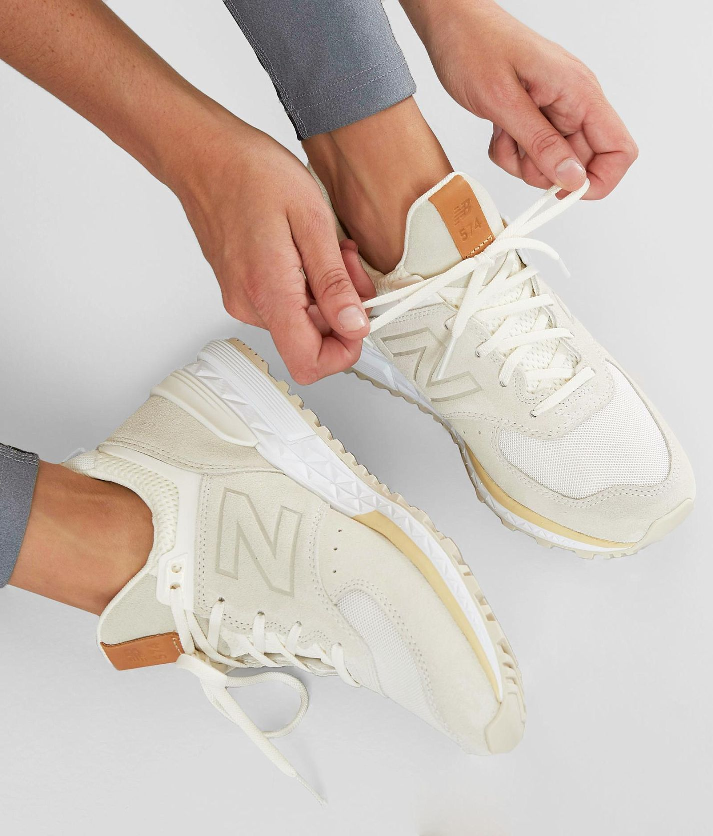 New Balance 574 Sport Shoe - Women's Shoes in Sea Salt ...