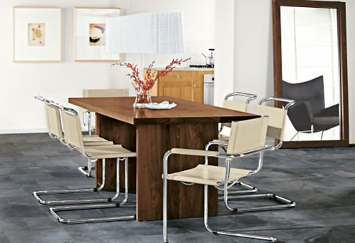 Lange Side Table.Lange Chairs In Leather Chairs Dining Room Board