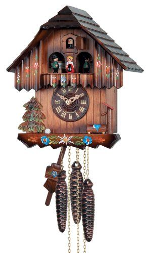 Amazon Com River City Clocks One Day Musical Cuckoo Clock With Hand Painted Flowers And Moving Dancers Home Kitchen Cuckoo Clock Clock Cuckoo River city cuckoo clocks