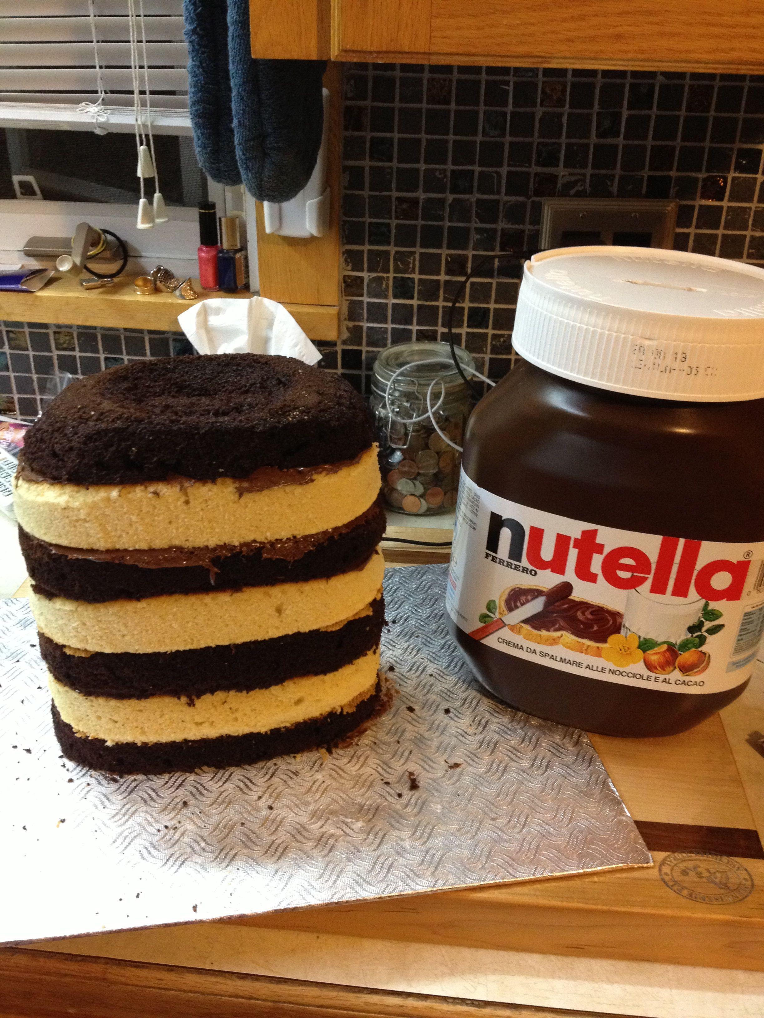 Gâteau nutella à l'intérieur Gateau au nutella, Nutella