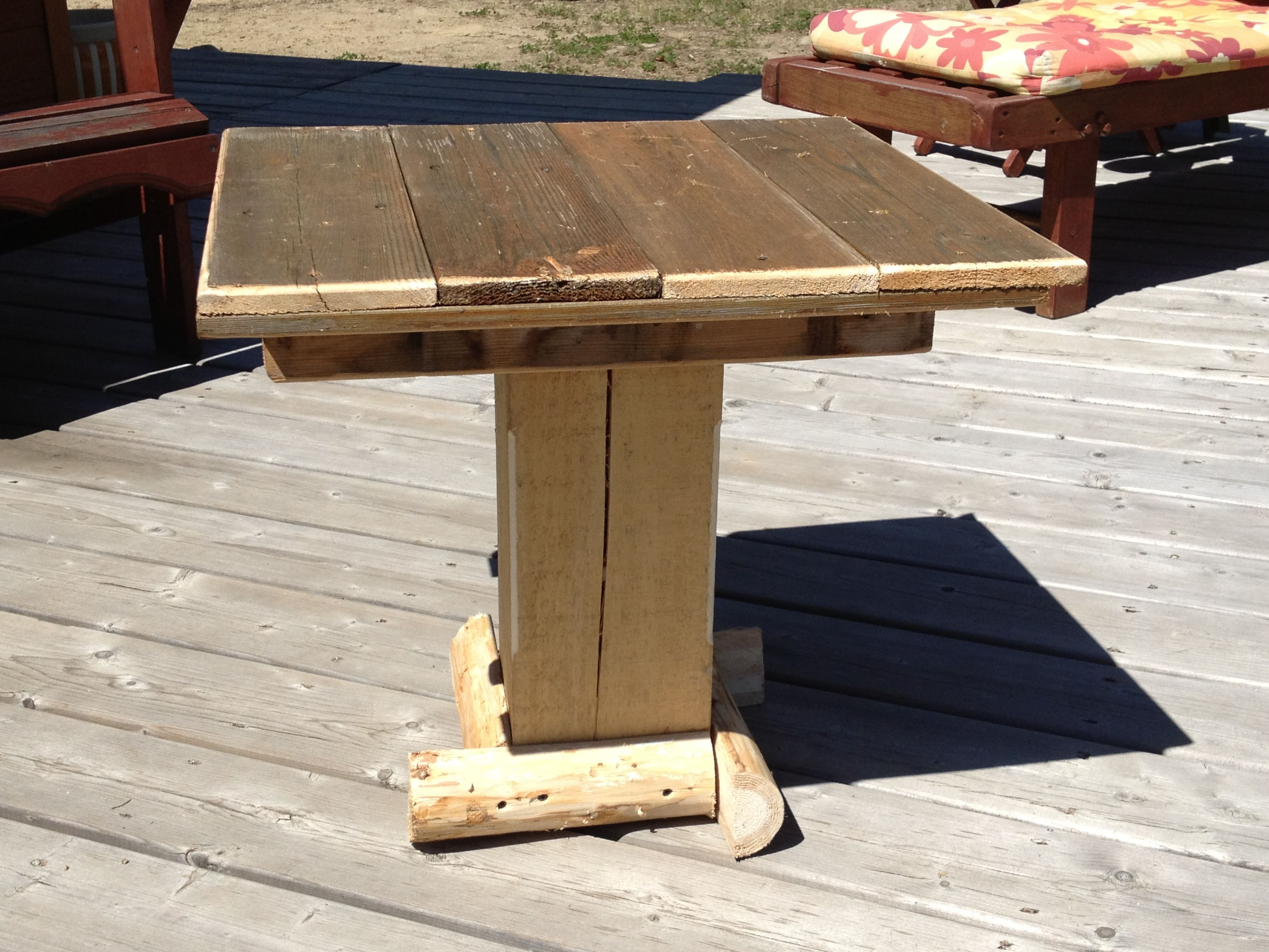 Side Table Made From Old Fence Boards
