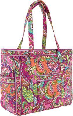 Vera Bradley Bags Get Carried Away Totez Pink Swirls - Handbags
