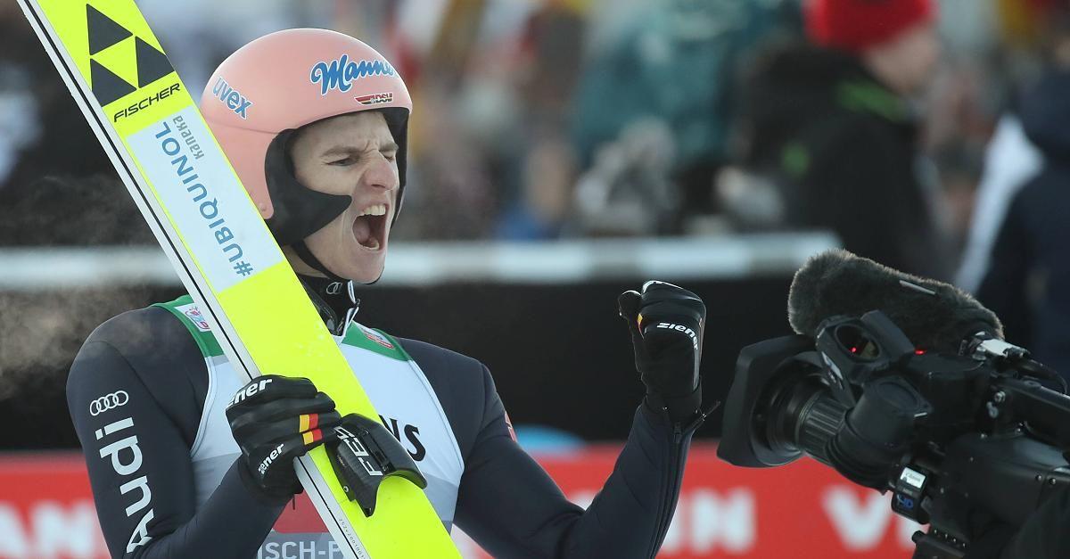 Vierschanzentournee Karl Geiger Schlagt Dominator Kobayashi In Garmisch In 2020 Vierschanzentournee Skisprung Skispringen