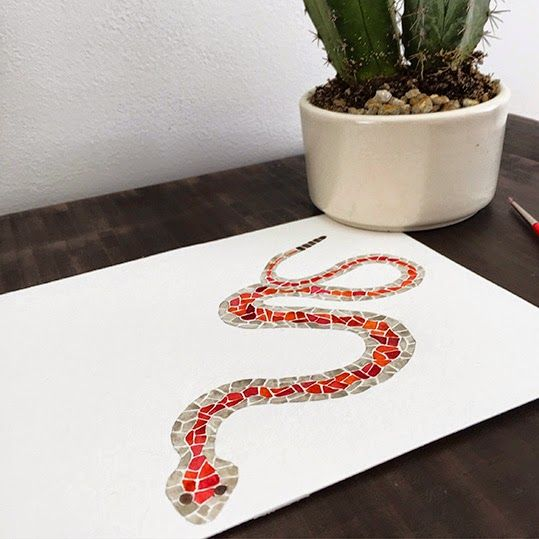 Red snake. Art by Claudia Calderas