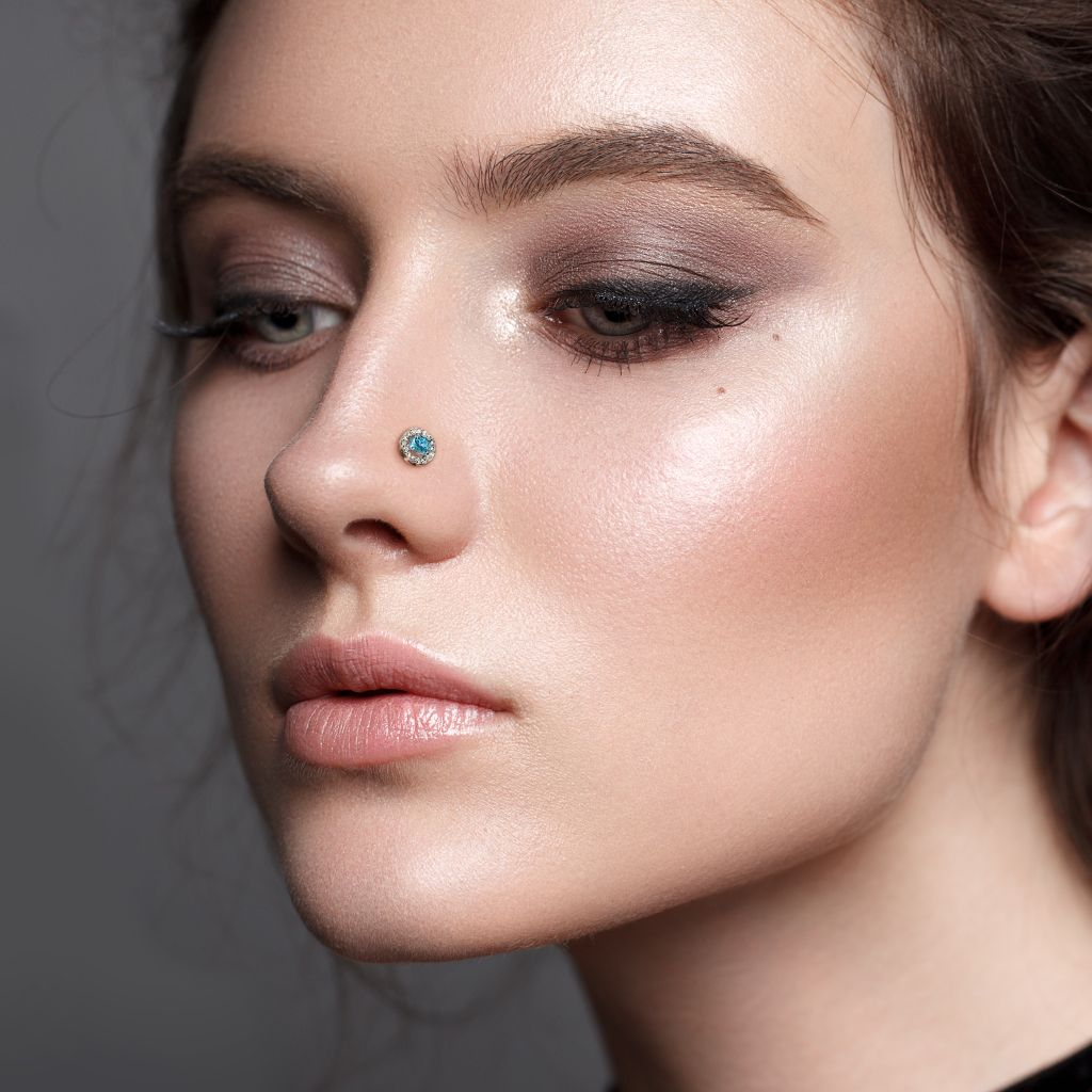 Bump above nose piercing  Pin by Hollywood Body Jewelry on HBJ Jewelry  Nose rings  studs