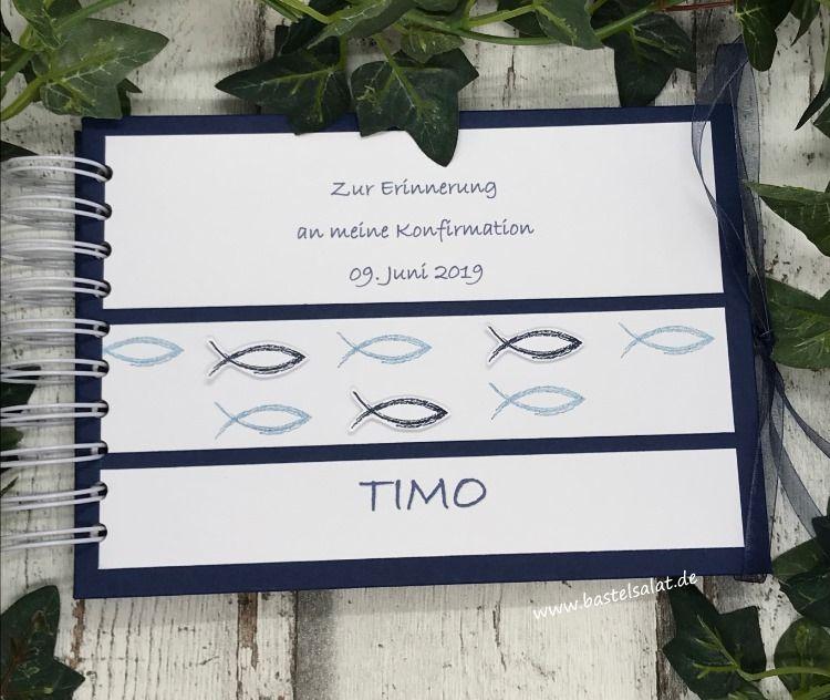 Personalisiertes Gästebuch Zur Konfirmation Stampin Up