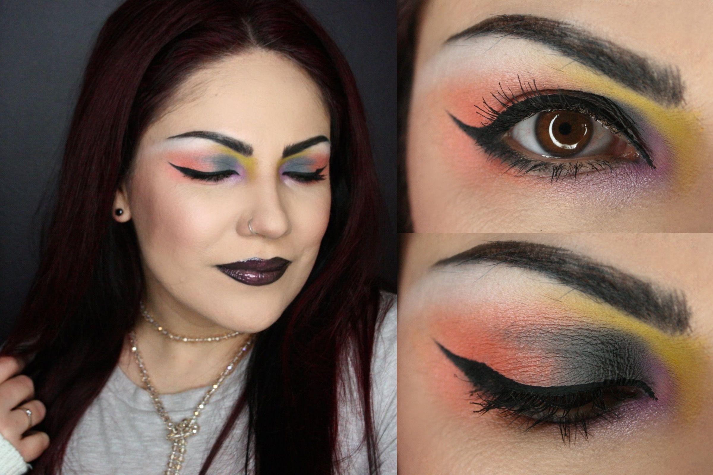 Makeup Watercolor effect kat von d Pastel Goth palette