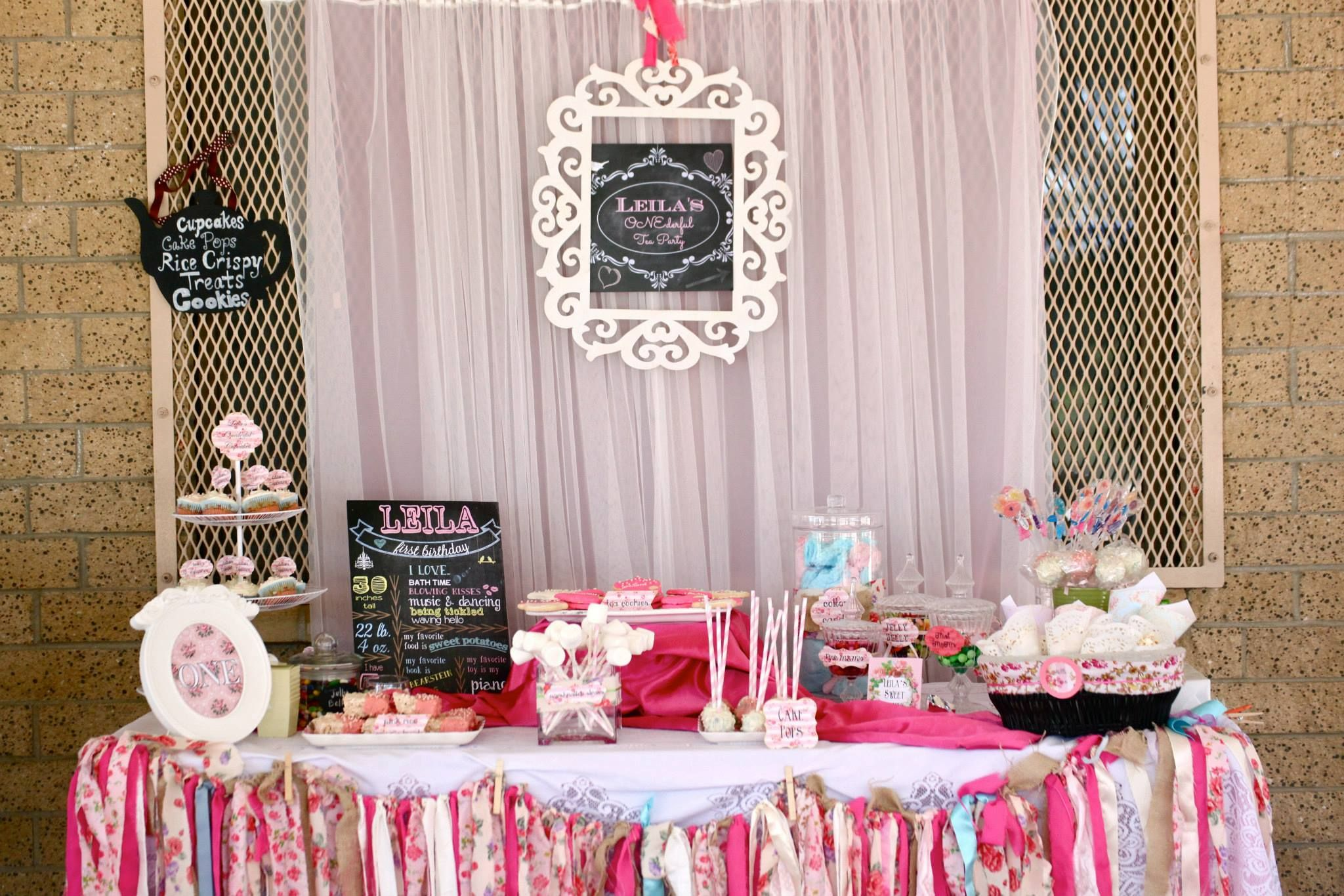 Onederful Tea Party Chalkboard Signs Treats And Sweets Shoppecandy Bar,