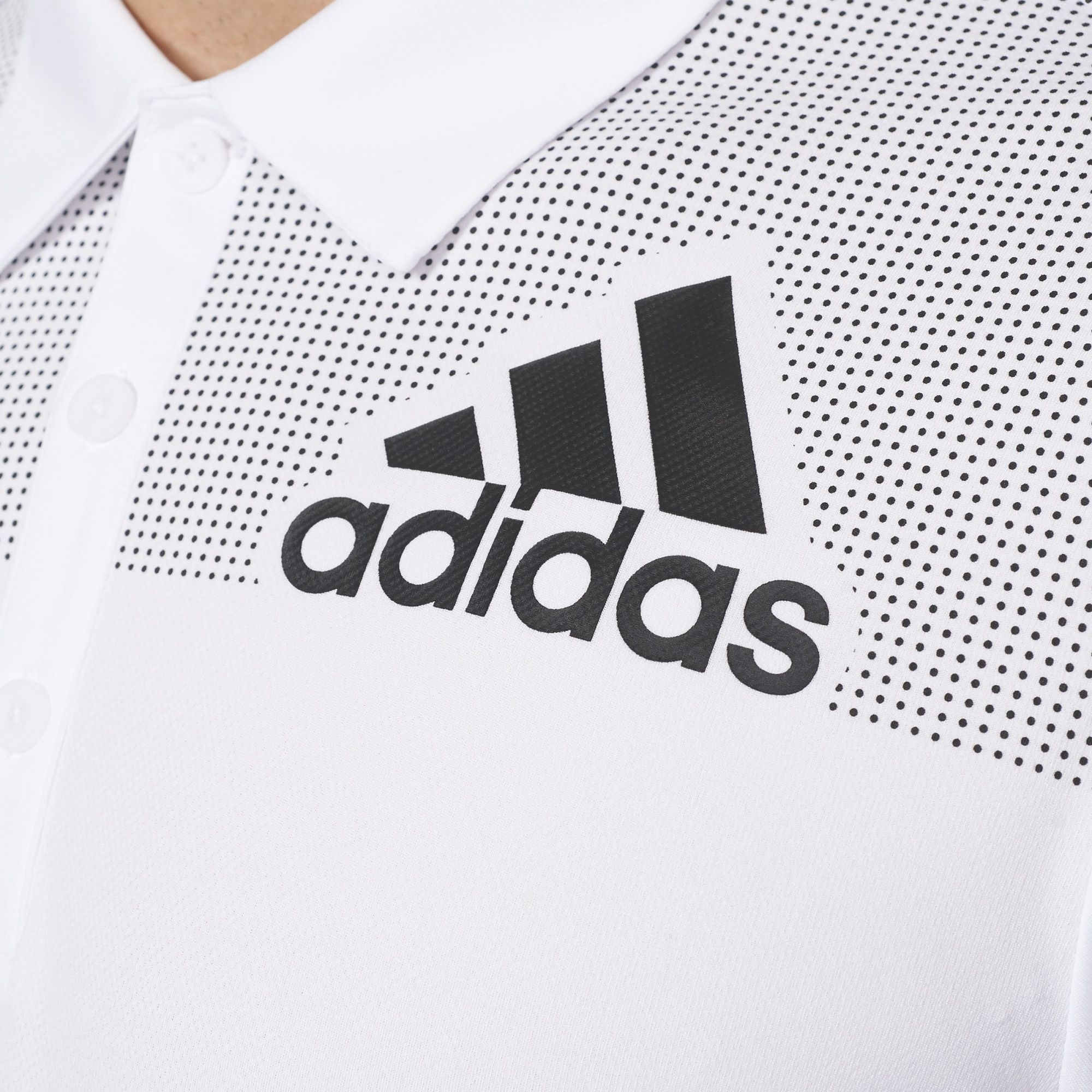 ed8d6b44c936f6 adidas - Big Logo Dot-Print Polo Shirt