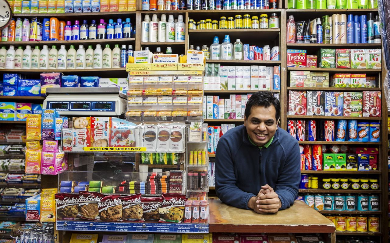 Local business owner at Village Farm his grocery store