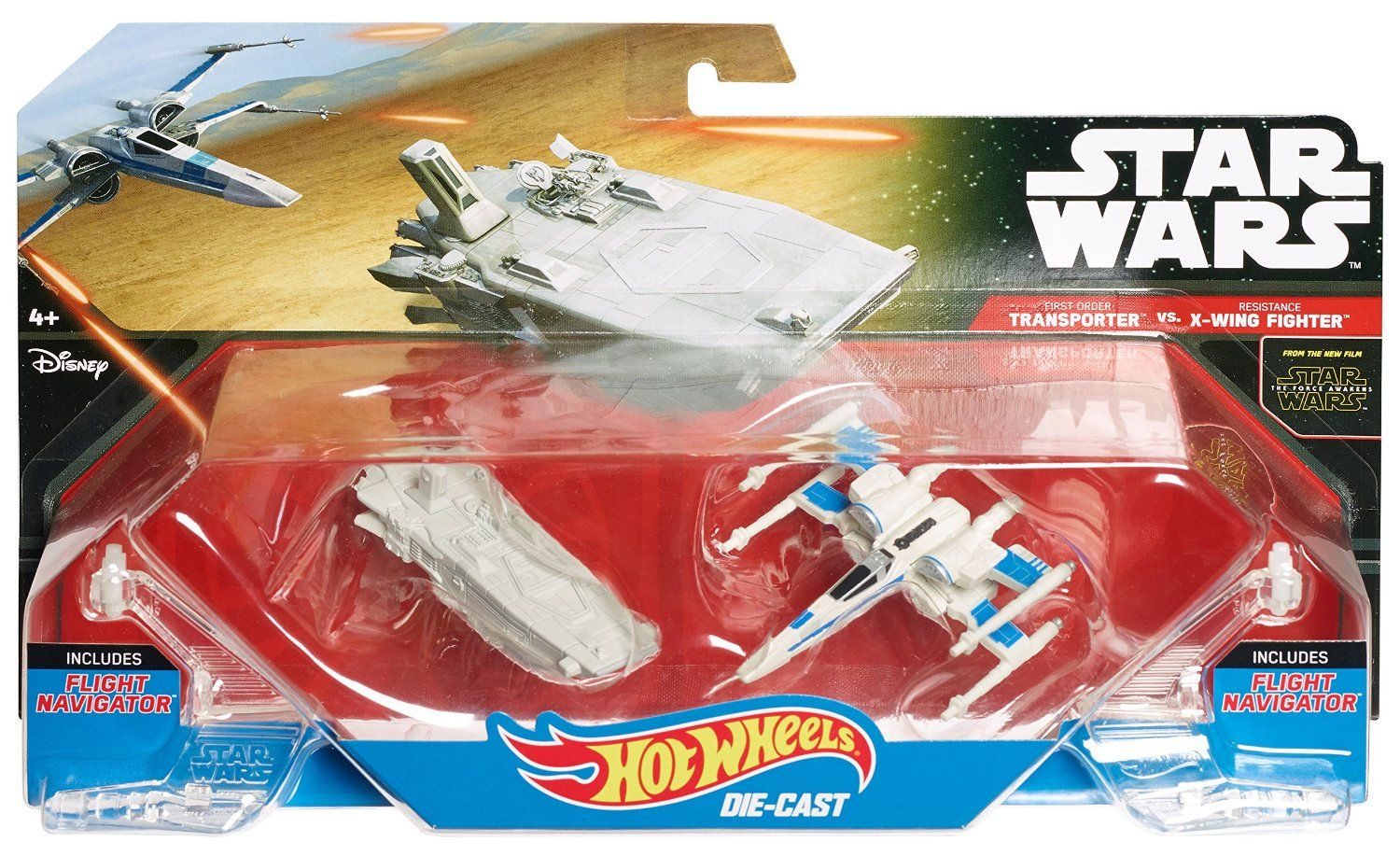 HOT WHEELS DIE CAST STAR WARS THE FORCE AWAKENS X-WING FIGHTER