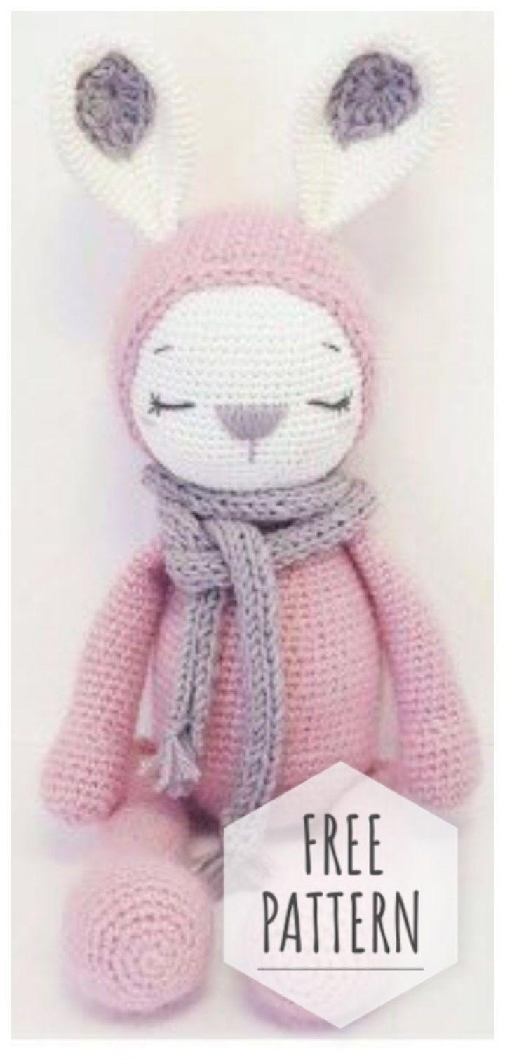 Amigurumi Cute Bunny Free Pattern #crochettoysanddolls