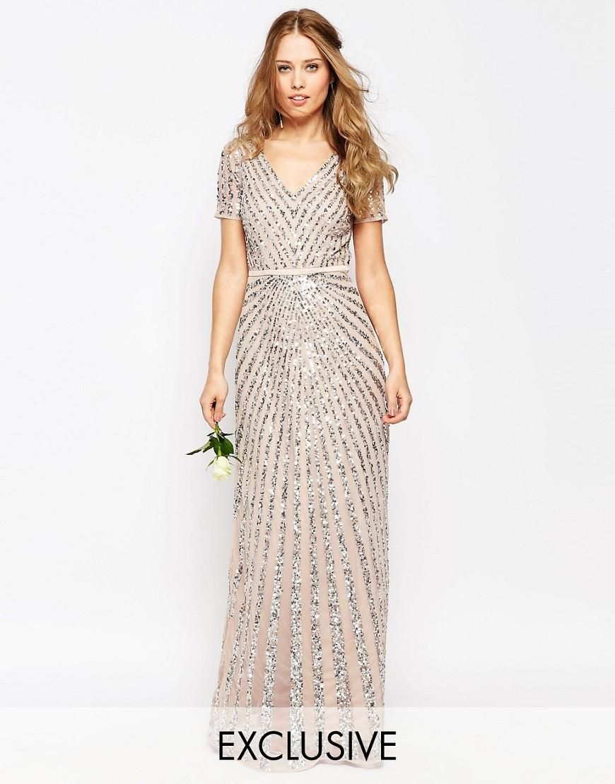 Maya Sequin All Over Maxi Dress at asos.com  Short lace