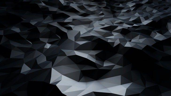 Abstract Black Low Poly Wallpaper Ipad Air Wallpaper Android Wallpaper Abstract Wallpaper