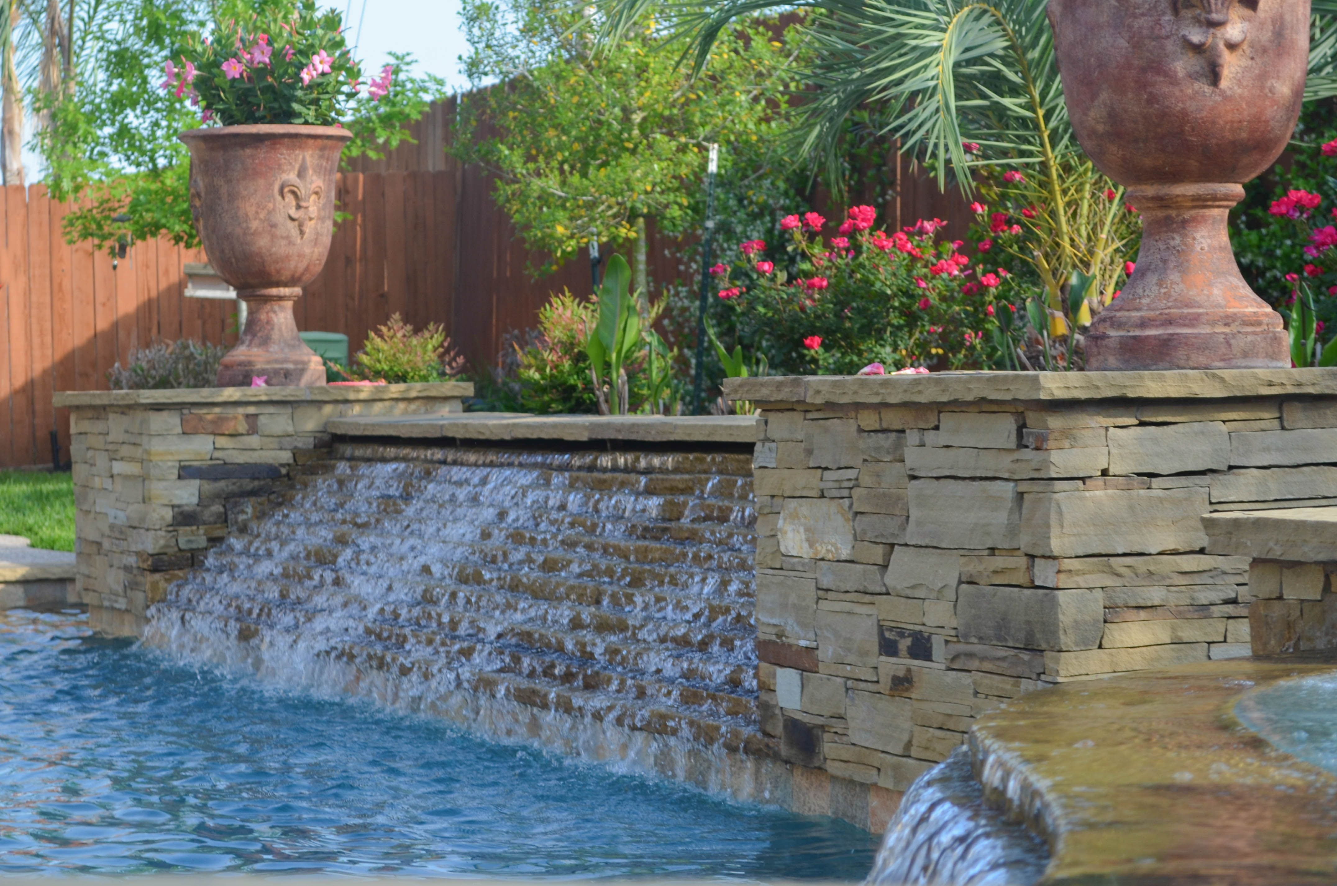 Pool Water Features Special Swimming Pool Water Feature Photos Cypress Houston Katy