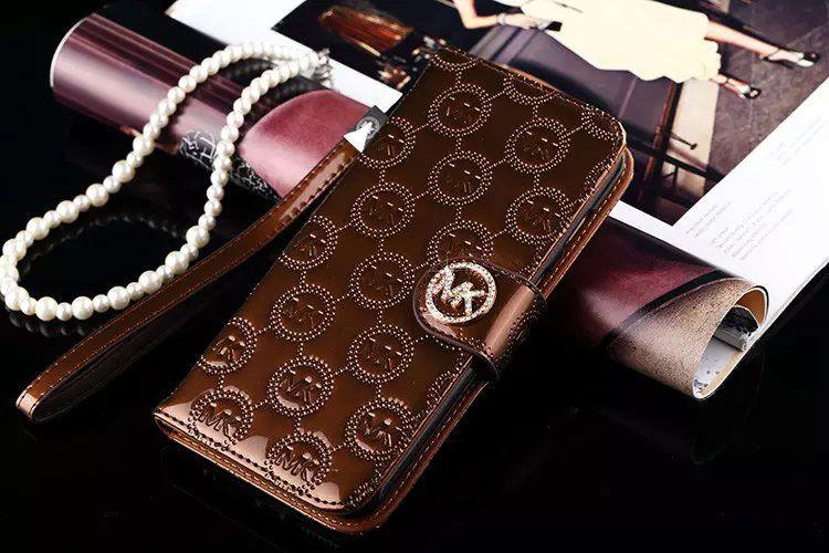 Michael kors flip wallet case cover galaxy s7 edge brown