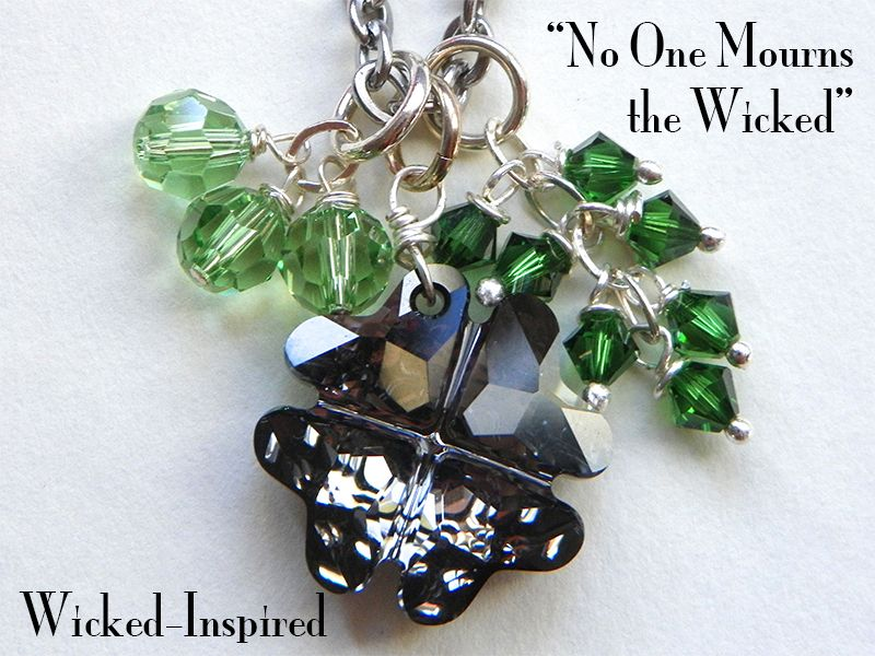 No One Mourns the Wicked {Wicked-Inspired} Necklace #wicked