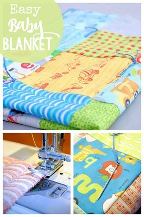 Easy Baby Blanket Patterns to Sew | Baby Blankets | Pinterest | Easy ...