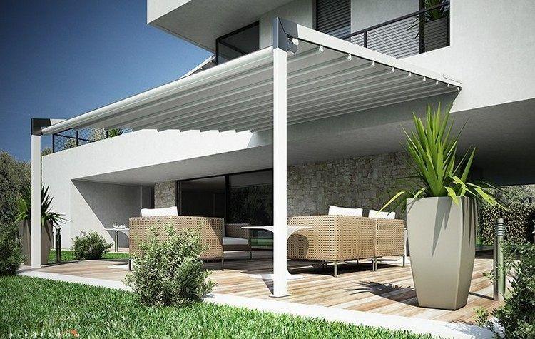 moderne Terrassenüberdachung aus Aluminium Flexia von Tenda Service ...