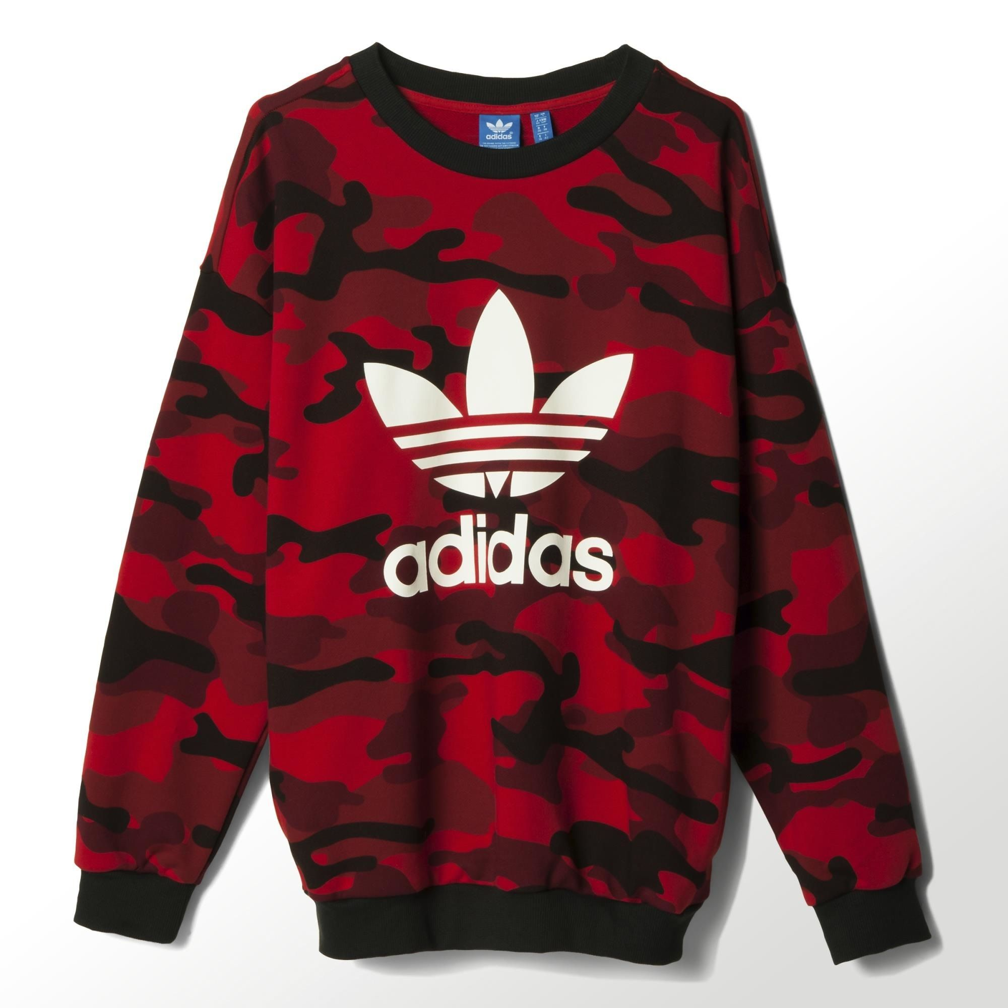 adidas camouflage pullover rot blau