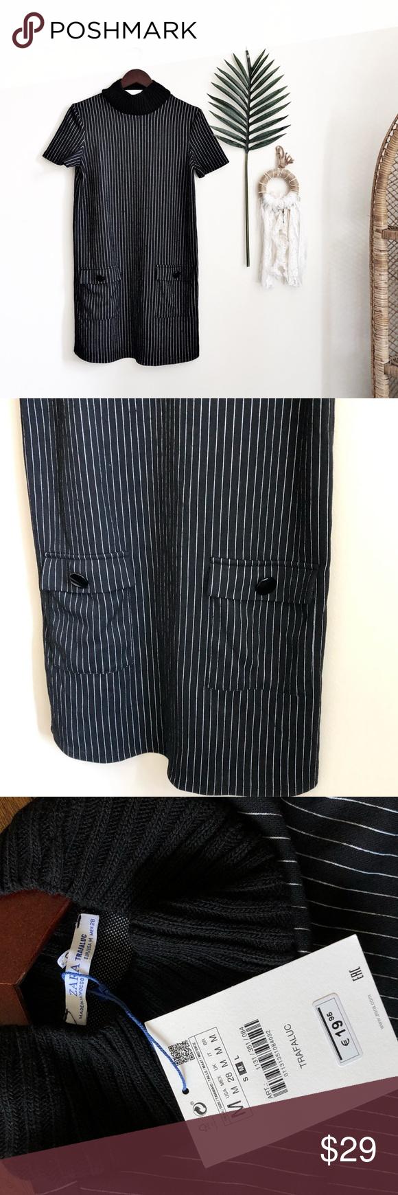 womens size small striped knit sleeveless shirtdress NWT by Zara