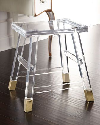Dyer Acrylic Vanity Seat By Interlude At Horchow