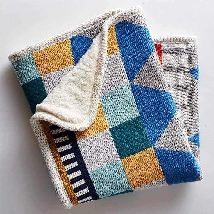 elm Knit Cotton Baby Blanket  Geometric west elm Knit Cotton Baby Blanket  Geometric  Knit Cotton Baby Blanket  Geometric Pottery Barn Kids Decorative Sham Knit Cotton Di...
