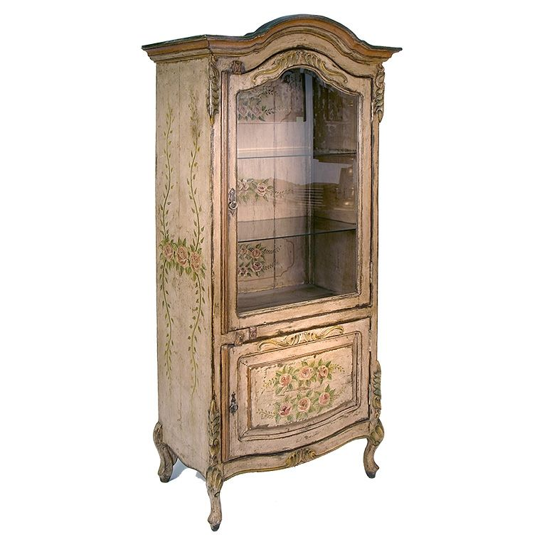 Hand Painted Kitchen Cabinets: Hand Painted Curio Cabinets Curio Cabinet Linda Collection