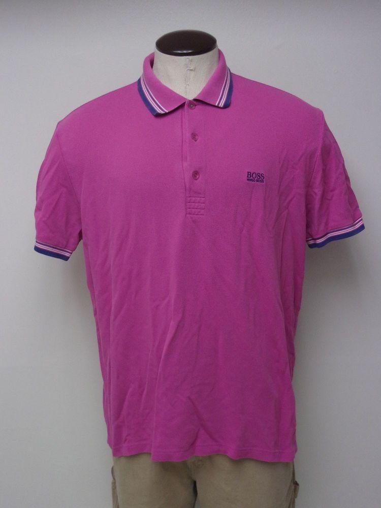 8eabcb2e89e Men s Hugo Boss Green Label Regular Fit sz 2XL XXL Pink Polo Shirt FREE  SHIPPING  fashion  clothing  shoes  accessories  mensclothing  shirts (ebay  link)