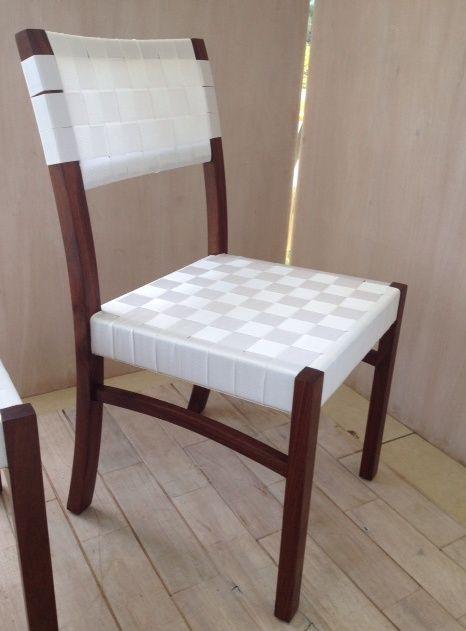 Silla basic, tapizado en nylon madera nanciton | Muebles | Pinterest ...