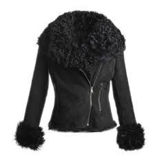 Image result for shearling jacket women