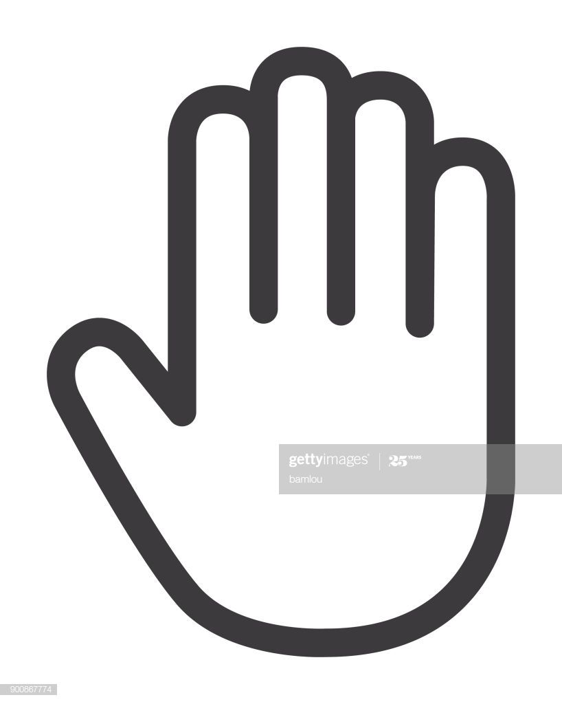Vector Of Hand Palm Icon Icon Hand Palm Clip Art