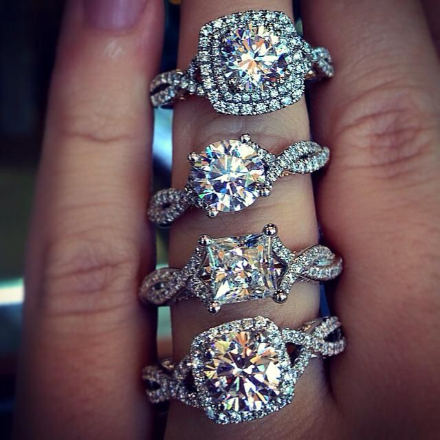 Engagement Rings Vs Wedding Bands: Moissanite Vs Cubic Zirconia - These Are All CZ's