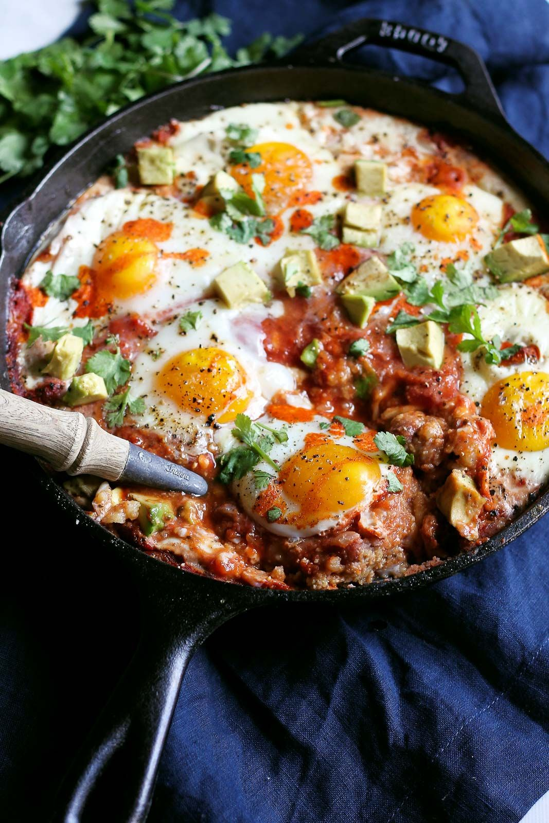 Check out polenta refried beans egg skillet bake it 39 s so easy to make skillets protein - Baked polenta cheese recipes ...