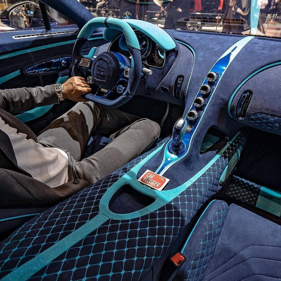 2016 Geneva Motor Show Bugatti Chiron First Look: Crazy Diamond Embedded Interiors Of The Chiron?