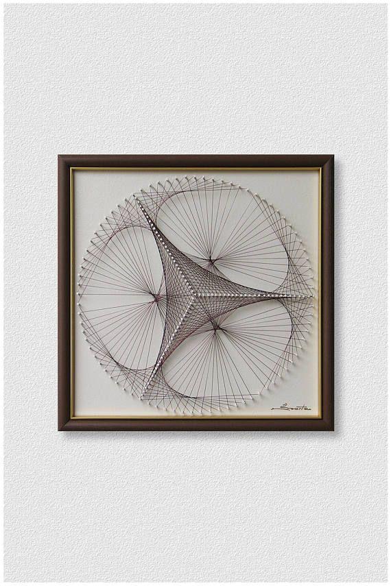 Luz Zen marrón pared arte enmarcado abstracto arte Mandala | arte ...