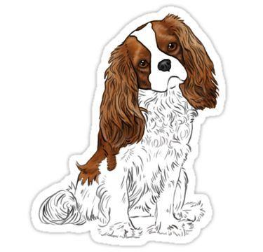 Cavalier Blenheim Window Sticker
