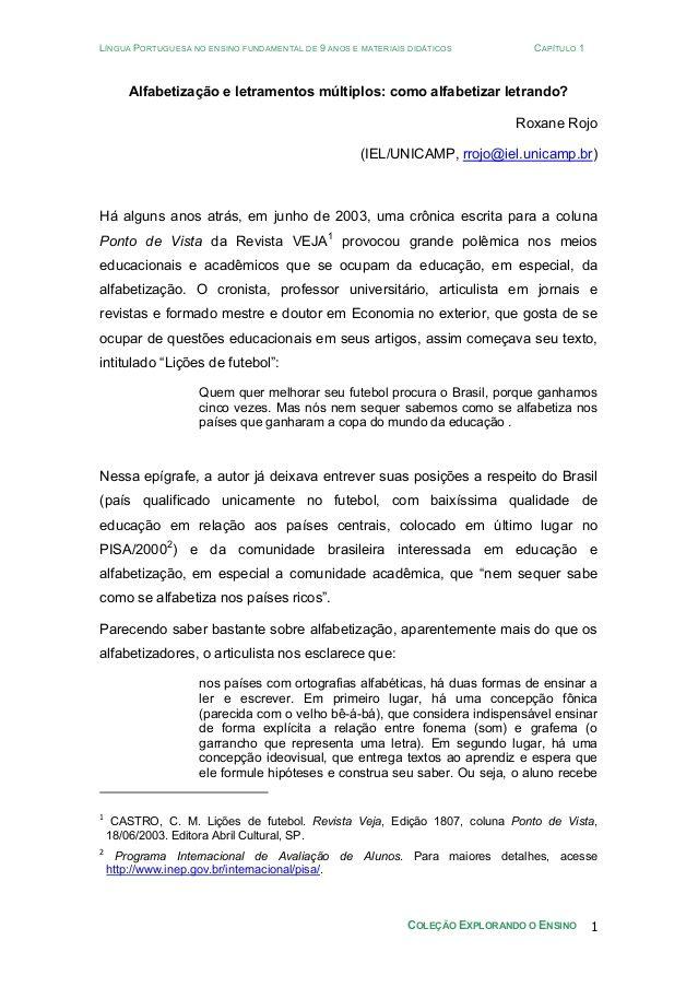 LÍNGUA PORTUGUESA NO ENSINO FUNDAMENTAL DE 9 ANOS E MATERIAIS DIDÁTICOS CAPÍTULO 1COLEÇÃO EXPLORANDO O ENSINO 1Alfabetizaç...