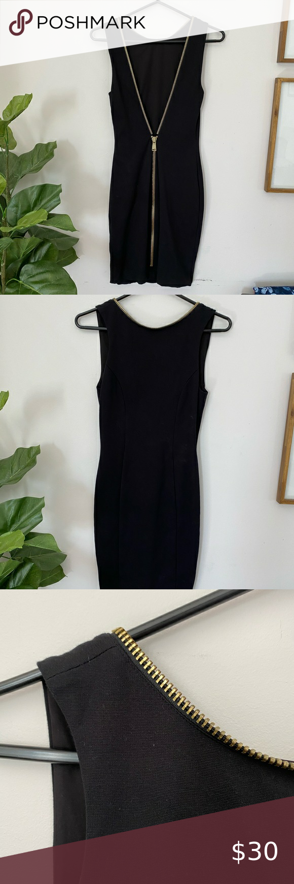 Express Little Black Dress Gold Accents Low Back Little Black Dress Black Dress Gold Dress [ 1740 x 580 Pixel ]