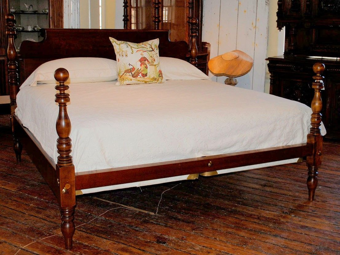Best Cannonball Ring Lowpost King Bed In Maple Circa 1840 640 x 480