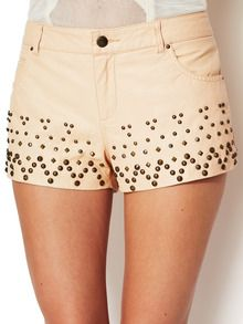 Vegan Leather Studdly Shorts by Free People at Gilt