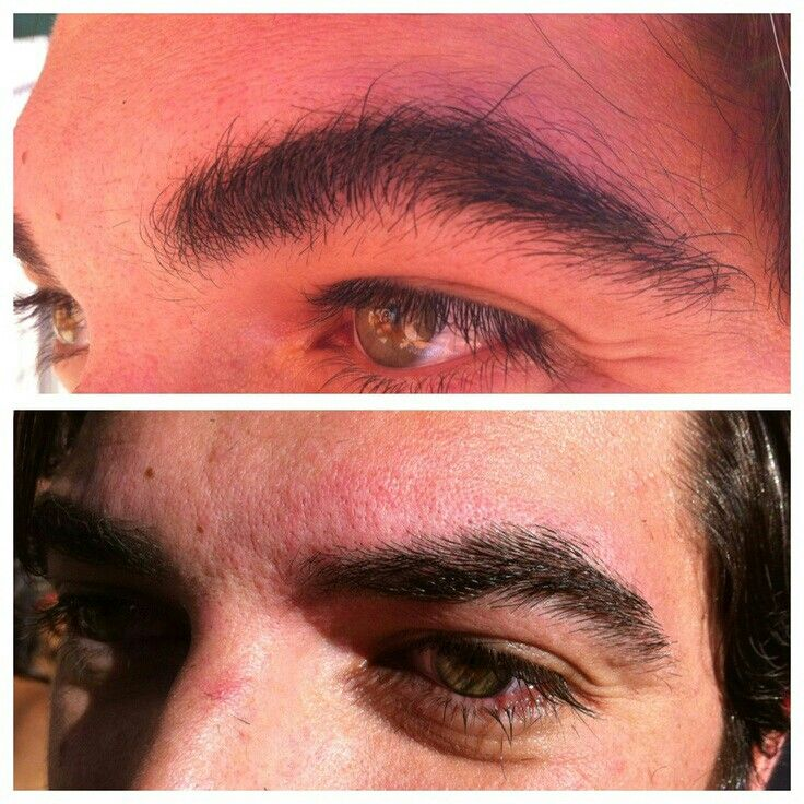 Brow Waxing For Men Before And Afterwhat A Difference Waxing