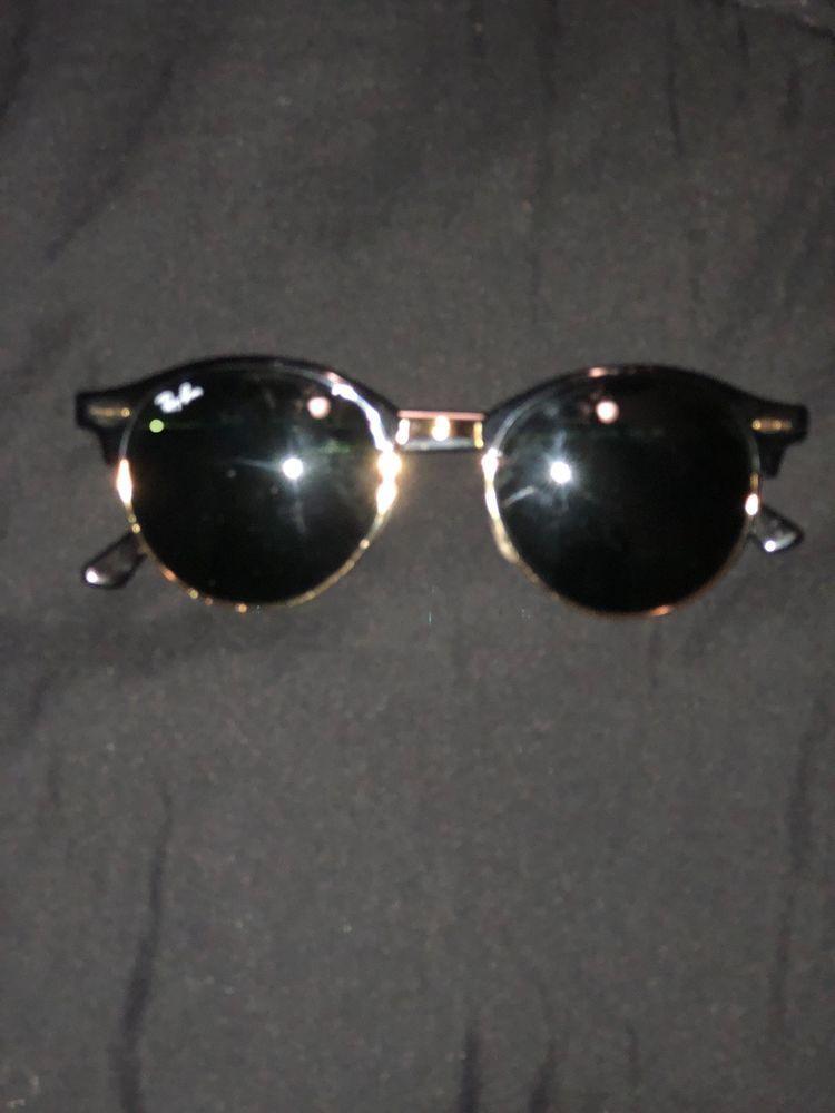 61222c30c896d Ray Ban Clubmaster Sunglasses RB 3016 W0365 Black gold Frame Black Lens  51mm.