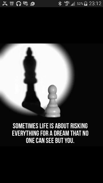 Risking everything for a dream