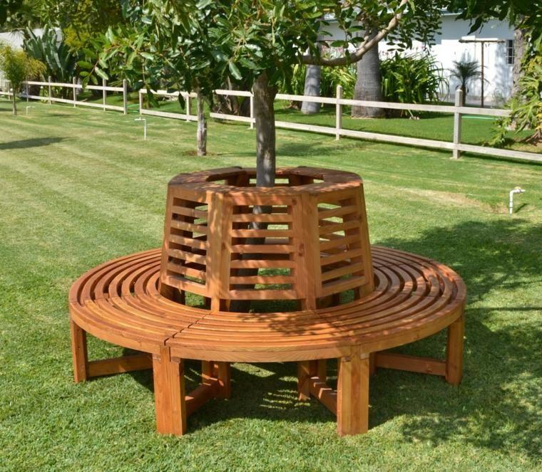 Banke Im Freien Die Baume Umgeben Und Schutzen Neueste Dekor Baumsitz Im Freien Bank Um Baume