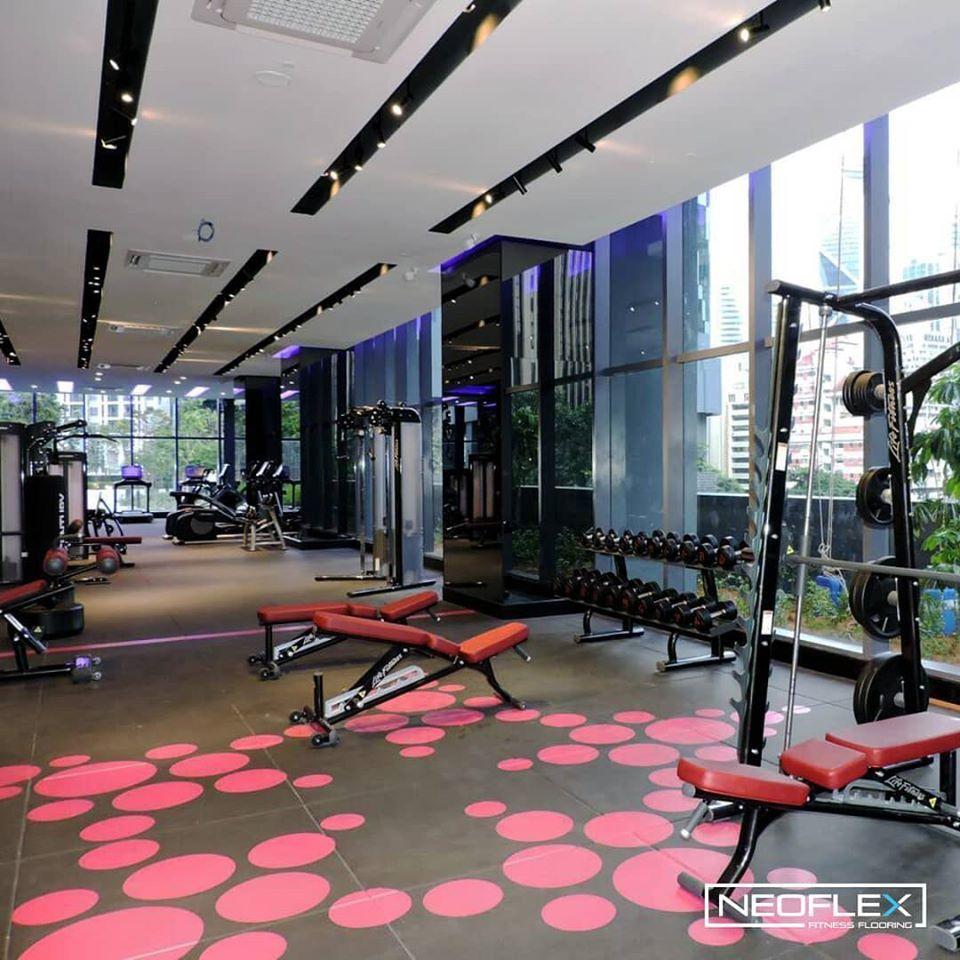 Neoflex Premium Gym Tiles With An Inlaid Logo For The Stars Residence In Kuala Lumpur Malaysia Kuala Lumpur Gym Malaysia